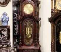 đồng hồ cây gỗ gụ